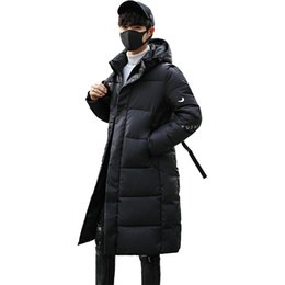 a7065d38ebe HETOBETO New Clothing Jackets Business Long Thick Winter Coat Men Solid Parka  Fashion Overcoat Outerwear Plus Size M-5XL