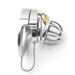 locking urethral cage NZ - Sextoy,Double Lock Stainless Steel Male ,Chastity cage ,Chastity Device Urethral Catheter,Cock Cage,Penis Lock,Cock Ring