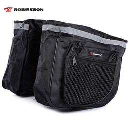 Bicycle rear panniers rack online shopping - Robesbon L Mountain Road Bicycle Bag Bike Double Side Rear Rack Tail Seat Trunk Pack Quick release