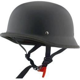 Chinese  Numan Unisex Retro Motorcycle Half German Helmets Matte Black Half Face Helmet Chopper Cruiser Biker Helmets M L XL manufacturers