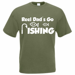 a7c472239 Details zu Funny Fishing T-Shirt - REEL DAD'S GO FISHING - Fisherman Angler  Mens Tee Funny free shipping Unisex Casual tee gift
