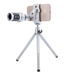 $enCountryForm.capitalKeyWord NZ - Telescope Camera Lens 12X Zoom Telephoto Phone Optical Lens Camera Telescope Lens + Mount Tripod For iPhone Samsung All phone