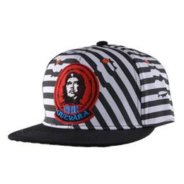 Baseball Cap Stripe UK - Stripe tile Che guevara summer hiphop flat along the cap sunbonnet fashion baseball cap casual hats caps Hiphop male man