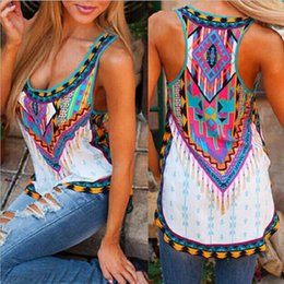 Women S Beach Clothes NZ - S-5XL Big Size Summer Women T-shirts Sleeveless Printed Irregular Shirt Package Hip Streetwear Women Clothing Ladies Beach Tops