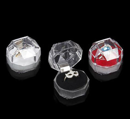 Wholesale Acrylic Delicate Fashion Jewelry Box For Ring Bracelet Pendant Beads Earrings Pins Ring Holder Display Box jewelry boxes and packaging