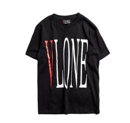 Chinese  T-shirt Men Newest Type Streetwear Fashion Big V Printed Short Sleeve T Shirts Hip Hop Skateboards Friends Tee Shirt Women VLONE manufacturers