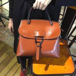 $enCountryForm.capitalKeyWord Canada - 2018 new shell bag, leather bag, handbag, wax leather, single shoulder, slanting large bag