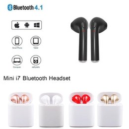 apple iphone earbuds Canada - HBQ I7S TWS Earbuds Ture Wireless Bluetooth Double Earphones Twins Earpieces Stereo Music Headset For Apple iPhone X 8 7 6 Plus Samsung