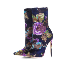 ... women s shoes thigh high stiletto. 34. US  51.17 - 58.19   Piece. sexy  stilettos boots 2018 - New Arrivals Flowers Short Boot Sexy Pointed Toe  Mid-Calf d94cf132f40d