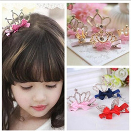 $enCountryForm.capitalKeyWord Canada - Multi Styles Kids Hair Claws with Bright Rhinestone Crown Princess Barrettes Hair Clip for Girls Hair Accessories Child Jewelry TO416
