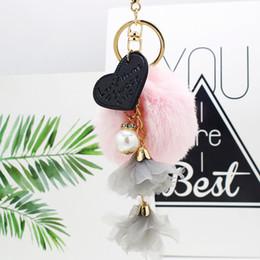 $enCountryForm.capitalKeyWord NZ - OTOKY 2018 new Heart-shaped Tassel Fur Ball Keychain Bag Plush Car Key Ring Car Key Pendant Oct.26