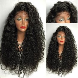Kinky Curly Human Hair Afro Wigs Australia - Glueless Full Lace Human Hair Wigs For Black Women 150% Brazilian Afro Kinky Curly Wig Natural Lace Front Human Hair Wigs