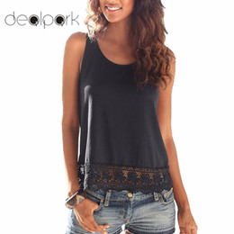 Blouses & Shirts Efficient New Women Summer Lace Vest Top Sleeveless Blouse Round Neck Solid Casual Tops