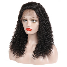 China Wholesale Soft 1b# Natural Looking Black Kinky Curly Wigs 100% Brazilian Human Hair Lace Front Wigs For Black Women Natural Hair Line cheap indian wigs hair line suppliers