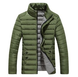 CommerCial stands online shopping - 2017 men winter down jackets wadded jacket stand collar fashion all match commercial jackets