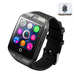Discount smart watches phones apple - Bluetooth Smart Watch Q18 Intelligent Clock For Android Phone With Pedometer Camera SIM Card Whatsapp Call Message Displ