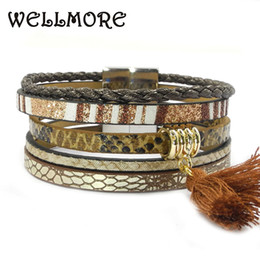 $enCountryForm.capitalKeyWord UK - brown leather bracelet tassel women charm bracelets magnet buckle Friendship bracelet Bohemian bracelets&bangles wholesale B1631