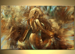 $enCountryForm.capitalKeyWord Australia - 100% handpainted abstract woman dancing painting palette knife heavy texture oil painting art beauty quotes acrylic p