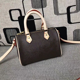 2368513056c1 2018 Wholesale new orignal Canvas genuine leather lady messenger bag phone  purse fashion satchel nano pillow shoulder bag handbag 61252
