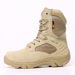 Special forceS deSert bootS online shopping - Winter Men Delta Boots Special Force Waterproof Tactical Desert Combat Ankle Boats Army Work Shoes Leather Safety Boots