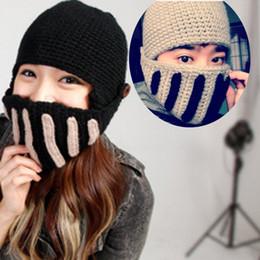 bbf7a846fe5 Winter 2016 Unisex Warm Roman Knight Helmet Caps Handmade Knitted Ski Hat  Funny Party Mask Beanie 99 XRQ88