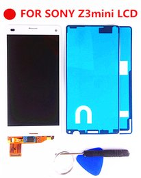 $enCountryForm.capitalKeyWord Australia - ORIGINAL Touch Screen LCD For SONY  Z3 Compact Display Frame Z3 Mini D5803 D5833 Digitizer For SONY  Compact LCD