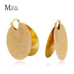 Vintage copper hoop earrings online shopping - Brand Statement Jewelry Geometric Matte Earrings Big round Vintage Hoop For Women Christmas Gift ZK20 mm