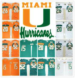 Cheap throwbaCk sports jerseys online shopping - HOT Miami Hurricanes COLLEGE NCAA Brad Kaaya Ed Reed Sean Taylor Ray Lewis Jersey Football Jerseys Cheap Jersey SHIRT sports