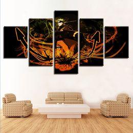 $enCountryForm.capitalKeyWord Australia - Wall Art Frame 5 Pieces Cartoon Anime Uzumaki Naruto Poster Home Decor Living Room Modular Canvas Pictures HD Printed Paintings