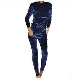 $enCountryForm.capitalKeyWord NZ - Women Two Piece Set Female Winter Tracksuit Velvet Hoodies Top + Pants Ladies Long Sleeve Outfit Femme Sporting Suits