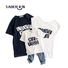 $enCountryForm.capitalKeyWord UK - Xaber Kin Family Matching Outfits Shirts For Mother And Daughter Clothes 2017 Summer T-shirt Family Look Family Clothing