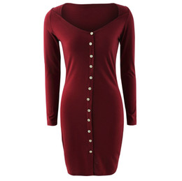 Black Sexy Ladies Clothes UK - European and American fashion ladies clothing sexy single-breasted dress