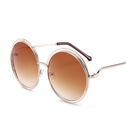 6ceae7a9b87 Cubojue Oversized Round Sunglasses Women Gradient Vintage Punk Sun Glasses  for Woman Fashion Star Style Female Sunglass Beach
