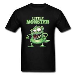 Green T Shirt NZ - 3D Printing Men Tops & Tees High Quality Brand Autumn Tee-Shirt Green Little Monster Funny Cartoon Print T Shirts On Sale