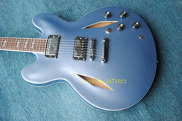 Hollow body guitar sale online shopping - Top quality Dave Grohl Metallic Blue Electric Guitar sales promotion cheap guitar