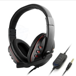 bass pc game 2019 - Universal Wired Mobile Computer Games Bass Headphones Deep Bass Stereo Headset with Mic LED Light for PC Game Gamer Earp