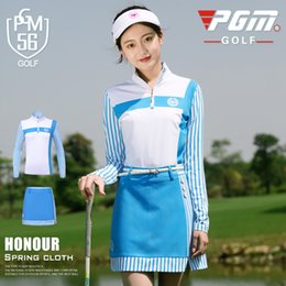 $enCountryForm.capitalKeyWord Canada - Golf Apparel Women Long Sleeve Striped Suit Spring Summer Tops Golf Trainning T Shirts+Skirt Sport Tennis Clothes Sets AA60492