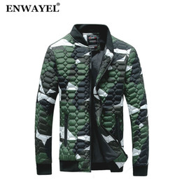 $enCountryForm.capitalKeyWord NZ - ENWAYEL 2018 Autumn Winter Camouflage Slim Jacket Men Quilted Padded Wadded Windbreaker Male Mens Jackets Coat Parkas Overcoat