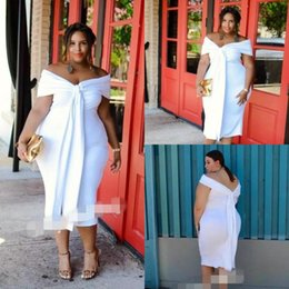 african wears dresses 2019 - Plus Size Mermaid Prom Dresses Saudi African Women Formal Wear Off The Shoulder Tea Length Simple Party Dress Evening Dr