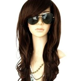 DarkBrown Long Wig Glamour Fashion Full Curly Wavy Woman Cosplay Synthetic Hair >>>>Free shipping New High Quality Fashion Picture wig
