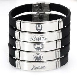 Chinese  New Style Black spider Bracelets Adjustable Stainless Steel Silicone Venom Bangles Bracelets Female and Male Venom Jewellery manufacturers