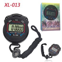 Классический секундомер таймер XL-013 профессиональный портативный ЖК-хронограф Спорт таймер цифровой счетчик секундомер с розничной упаковке