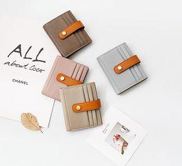 $enCountryForm.capitalKeyWord Australia - Leather girl zero wallet card pack sheepskin crash color retro simple short buckle large capacity