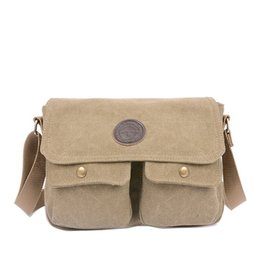 91d4eb5ee1df New Men s Vintage Canvas Satchel School Military Shoulder Messenger Bag Work