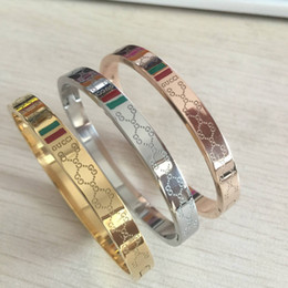 StainleSS Steel jewelry Sell online shopping - 2018 selling brand stainless steel rose gold four flower bracelet bangle for women pulseiras high quality