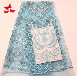 $enCountryForm.capitalKeyWord UK - PROMOTION. 5yard lot by Epacket High quality nigerian french net lace african lace fabric for wedding dress f9-2 light blue