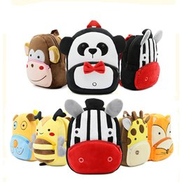 New 3D Cartoon Children Backpacks Plush Mini kindergarten Schoolbag Zoo Kids  Children School Bags For Girls Boys Child Backpack Y18100805 1e00abcc09b29