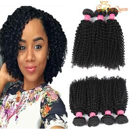 kinky curly human hair 2019 - Brazilian Afro Deep Curly Human Hair Extensions 3 Bundles 8A Brazilian Peruvian Indian Virgin Hair Kinky Deep Curly Weav