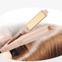 $enCountryForm.capitalKeyWord Australia - High Quality 2 in 1 Hair curler Hair Straightener Titanium Gold Plate US EU UK plug DHL Free shipping.