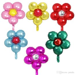 Pearl Coating NZ - 55*50CM Balloons Aluminum film Coating inflatable Colorful Flowers Ballons party Decor Wedding Xmas birthday Christmas Halloween new gifts